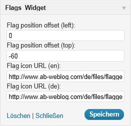 Flags-Widget (Admin)