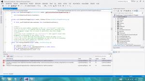 Screenshot der Ausnahmen beim Versuch die Beispiel-App auszuführen