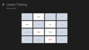 Screenshot des Vokabel-Trainers: Wörter-Kartenspiel