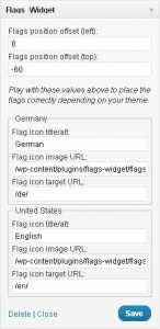 Flags Widget Options