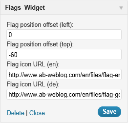 Flags Widget (Admin Interface)