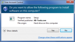Windows User Account Control (Signed)